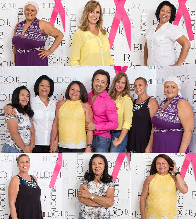 rildo e pacientes outubro rosa tarde de beleza hospital do cancer uberlandia